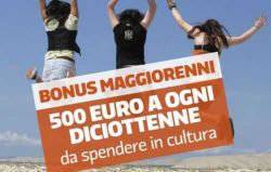 Bonus Cultura per i diciottenni del 2016