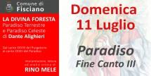 La Divina Foresta - Paradiso fine Canto III