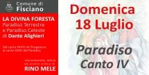 La Divina Foresta - Paradiso fine Canto IV